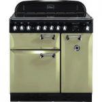 RANGEMASTER Elan 90 Electric Ceramic Range Cooker – Olive, Olive
