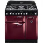 RANGEMASTER Elan 90 Dual Fuel Range Cooker – Cranberry & Chrome, Cranberry