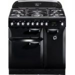 RANGEMASTER Elan 90 Dual Fuel Range Cooker – Black, Black
