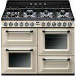 SMEG TR4110P1 Dual Fuel Range Cooker – Cream & Black, Cream