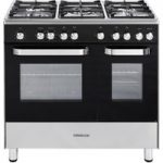 KENWOOD CK405 Dual Fuel Range Cooker – Black, Black