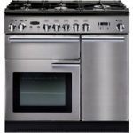 RANGEMASTER Professional 90 Gas Range Cooker – Stainless Steel & Chrome, Stainless Steel