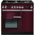 RANGEMASTER Professional 90 Gas Range Cooker – Cranberry & Chrome, Cranberry