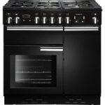 RANGEMASTER Professional 90 Gas Range Cooker – Black & Chrome, Black