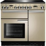 RANGEMASTER Professional 90 Electric Ceramic Range Cooker – Cream & Chrome, Cream