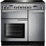 RANGEMASTER Professional 90 Electric Ceramic Range Cooker – Stainless Steel & Chrome, Stainless Steel