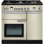 RANGEMASTER Professional 90 Dual Fuel Range Cooker – Cream & Chrome, Cream