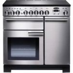 RANGEMASTER Professional Deluxe 90 Electric Induction Range Cooker – Stainless Steel & Chrome, Stainless Steel