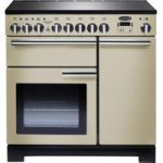 RANGEMASTER Professional Deluxe 90 Electric Induction Range Cooker – Cream & Chrome, Cream