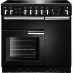 RANGEMASTER Professional 90 Electric Ceramic Range Cooker – Black & Chrome, Black
