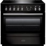 RANGEMASTER Professional FX 90 Electric Induction Range Cooker – Gloss Black & Chrome, Black