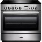 RANGEMASTER Professional FX 90 Induction Range Cooker – Stainless Steel & Chrome, Stainless Steel