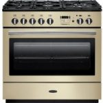 RANGEMASTER Professional FX 90 Dual Fuel Range Cooker – Cream & Chrome, Cream