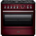 RANGEMASTER Professional FX 90 Dual Fuel Range Cooker – Cranberry & Chrome, Cranberry