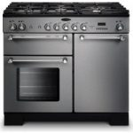 RANGEMASTER Kitchener 100 Dual Fuel Range Cooker – Stainless Steel & Chrome, Stainless Steel