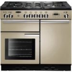 RANGEMASTER Professional 100 Dual Fuel Range Cooker – Cream & Chrome, Cream