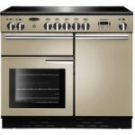 RANGEMASTER Professional 100 Electric Induction Range Cooker – Cream & Chrome, Cream