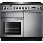 RANGEMASTER Professional 100 Electric Induction Range Cooker – Stainless Steel & Chrome, Stainless Steel