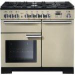 RANGEMASTER Professional Deluxe 100 Dual Fuel Range Cooker – Cream & Chrome, Cream