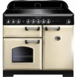 RANGEMASTER Classic Deluxe 100 Electric Induction Range Cooker – Cream & Chrome, Cream