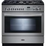 RANGEMASTER Professional FXP 90 Dual Fuel Range Cooker – Stainless Steel & Chrome, Stainless Steel
