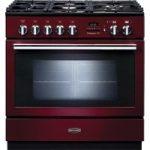 RANGEMASTER Professional FXP 90 Dual Fuel Range Cooker – Cranberry & Chrome, Cranberry