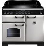 RANGEMASTER Classic Deluxe 100 Electric Induction Range Cooker – Royal Pearl & Chrome