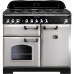 RANGEMASTER Classic Deluxe 100 Dual Fuel Range Cooker – Royal Pearl & Chrome