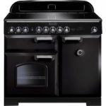 RANGEMASTER Classic Deluxe 100 Electric Induction Range Cooker – Black & Chrome, Black
