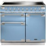 RANGEMASTER Elise 100 Electric Induction Range Cooker – China Blue & Chrome, Blue