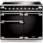 RANGEMASTER Elise 100 Electric Induction Range Cooker – Black & Chrome, Black