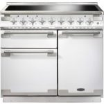 RANGEMASTER Elise 100 Induction Range Cooker – White & Chrome, White