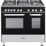 KENWOOD CK405G Gas Range Cooker – Black, Black
