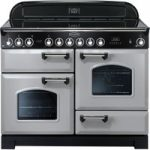 RANGEMASTER Classic Deluxe 110 Electric Ceramic Range Cooker – Royal Pearl & Chrome