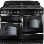 RANGEMASTER Classic 110 Dual Fuel Range Cooker – Black & Chrome, Black
