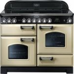 RANGEMASTER Classic Deluxe 110 Electric Ceramic Range Cooker – Cream & Chrome, Cream