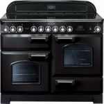 RANGEMASTER Classic Deluxe 110 Electric Ceramic Range Cooker – Black & Chrome, Black