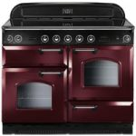 RANGEMASTER Classic 110 Electric Induction Range Cooker – Cranberry & Chrome, Cranberry