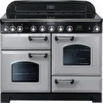 RANGEMASTER Classic Deluxe 110 Electric Induction Range Cooker – Royal Pearl & Chrome
