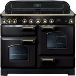 RANGEMASTER Classic Deluxe 110 Electric Induction Range Cooker – Black & Brass, Black