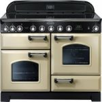 RANGEMASTER Classic Deluxe 110 Electric Induction Range Cooker – Cream & Chrome, Cream