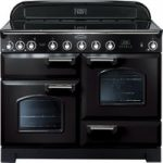 RANGEMASTER Classic Deluxe 110 Electric Induction Range Cooker – Black & Chrome, Black