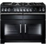 RANGEMASTER Excel 110 Dual Fuel Range Cooker – Black & Chrome, Black