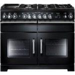 RANGEMASTER Excel 110 Dual Fuel Range Cooker – Black & Chrome, Black
