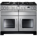 RANGEMASTER Excel 110 Dual Fuel Range Cooker – Stainless Steel & Chrome, Stainless Steel