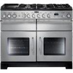 RANGEMASTER Excel 110 Dual Fuel Range Cooker – Stainless Steel & Chrome, Stainless Steel