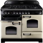 RANGEMASTER Classic Deluxe 110 Dual Fuel Range Cooker – Cream & Chrome, Cream