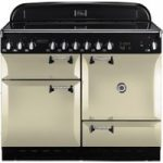 RANGEMASTER Elan 110 Electric Ceramic Range Cooker – Cream & Chrome, Cream