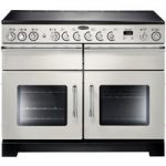 RANGEMASTER Excel 110 Electric Ceramic Range Cooker – Ivory & Chrome, Ivory