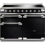 RANGEMASTER Elise 110 Electric Induction Range Cooker – Black & Chrome, Black